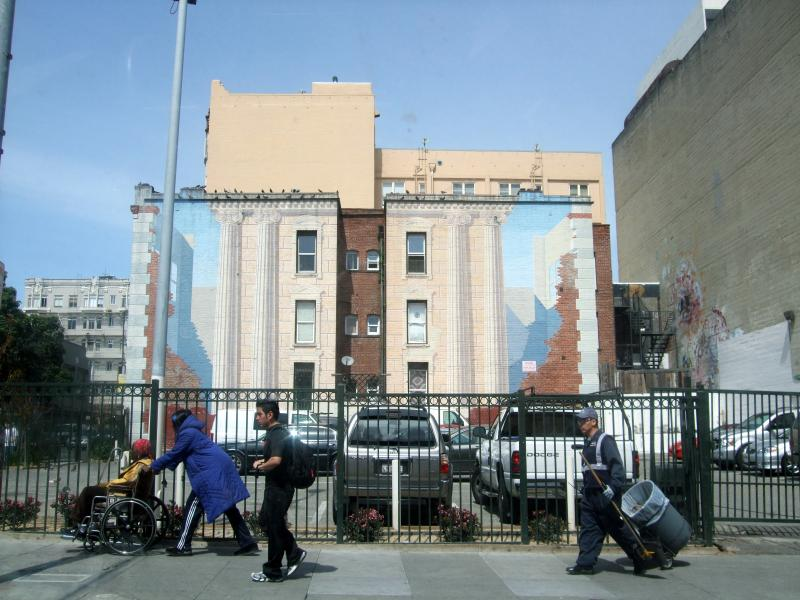 The site of the Blackhawk Jazz Club in the Tenderloin