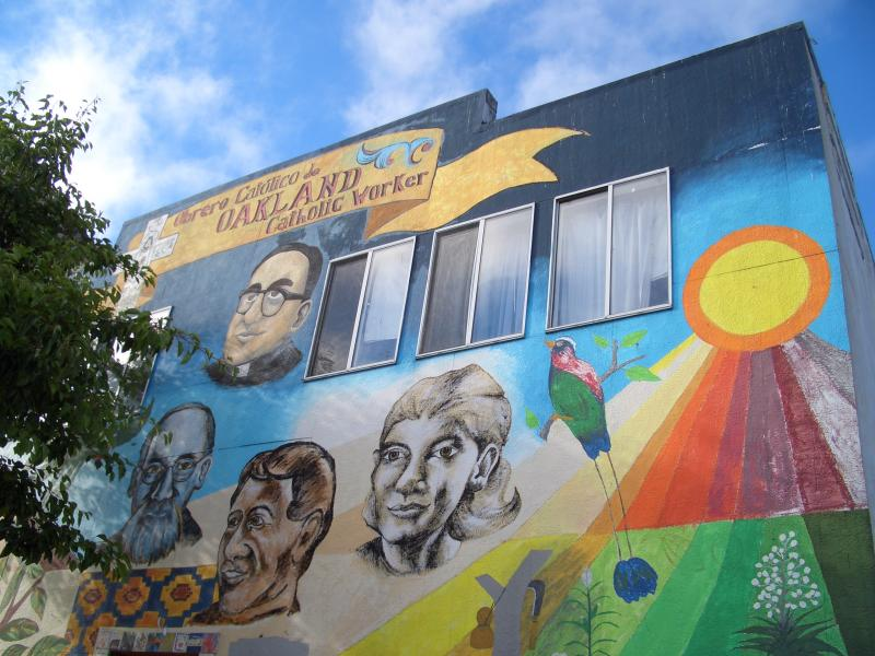 Mural at the Oakland Catholic Worker House of Hospitality