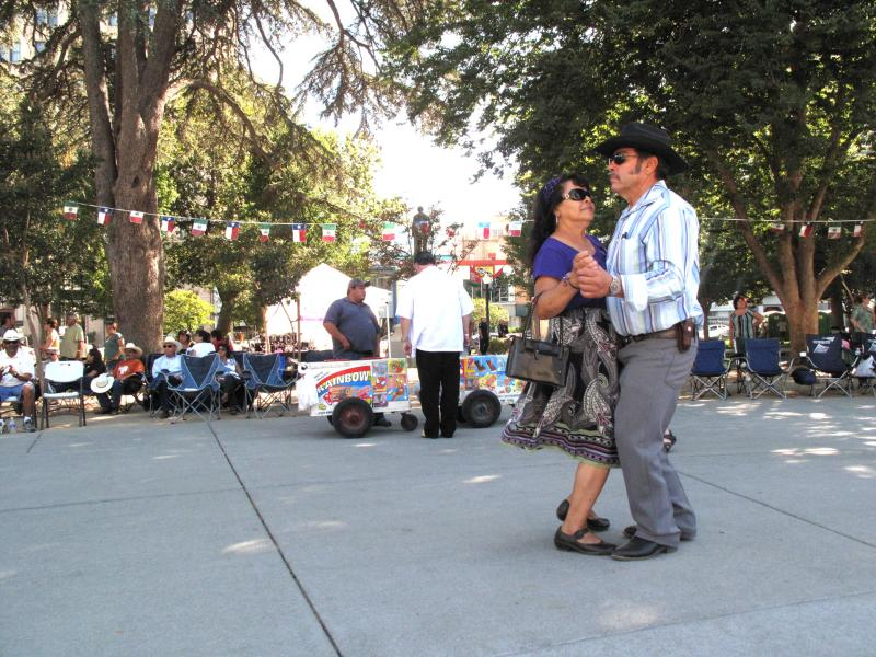 Dancers at the Tejano Conjunto Festival in Sacramento