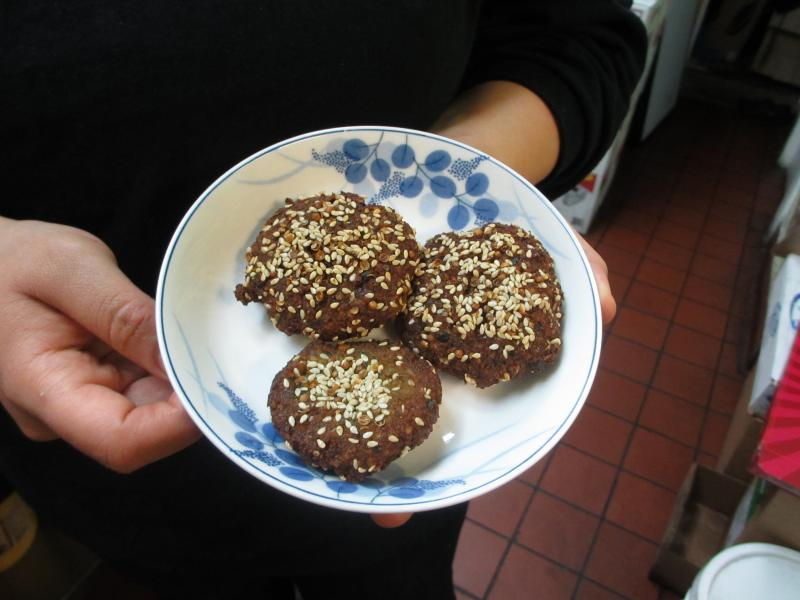 Egyptian falafel called tameya by Yasmin ElmorsyCourtesy: Cindy Carpien/NPR