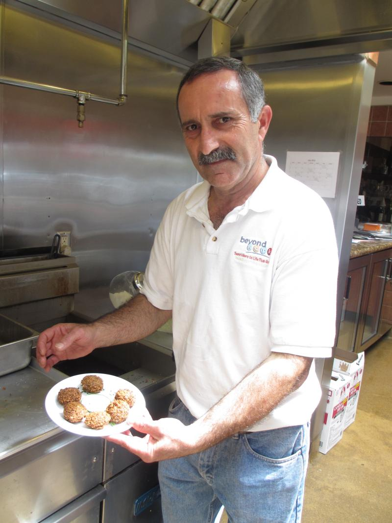 Chef Ramzy Totari and Palestinian falafelCourtesy: Cindy Carpien/NPR