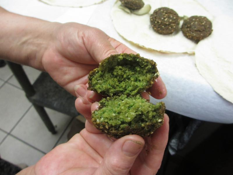 Lebanese falafel on the inside by Leila SfeirCourtesy: Cindy Carpien/NPR