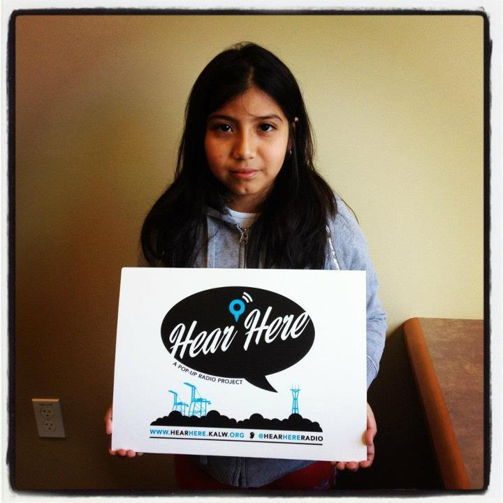 KALW's Hear Here producers met Lita Hernandez (pictured) at the 81st Avenue East Oakland Library. Photo by Audrey Dilling.