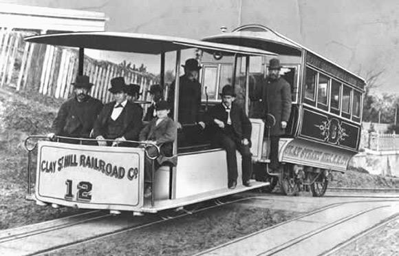Andrew Hallidie tested his original cable car design on this day in 1873.