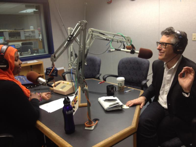 Crosscurrents host Hana Baba interviewing Ira Glass