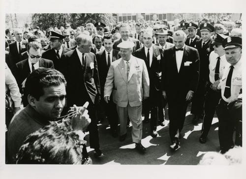 1959 - Soviet Premier Khruschev in San Jose' not Disneyland (highlighted story below)