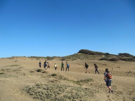 "Twelve friends of Molly Samuel take on the ""Long Walk"" challenge."