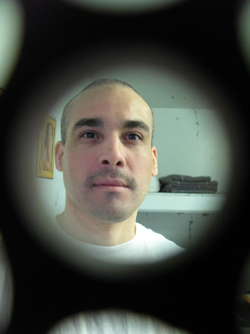 Reuben Martinez inside his cell in Pelican Bay State Prison.