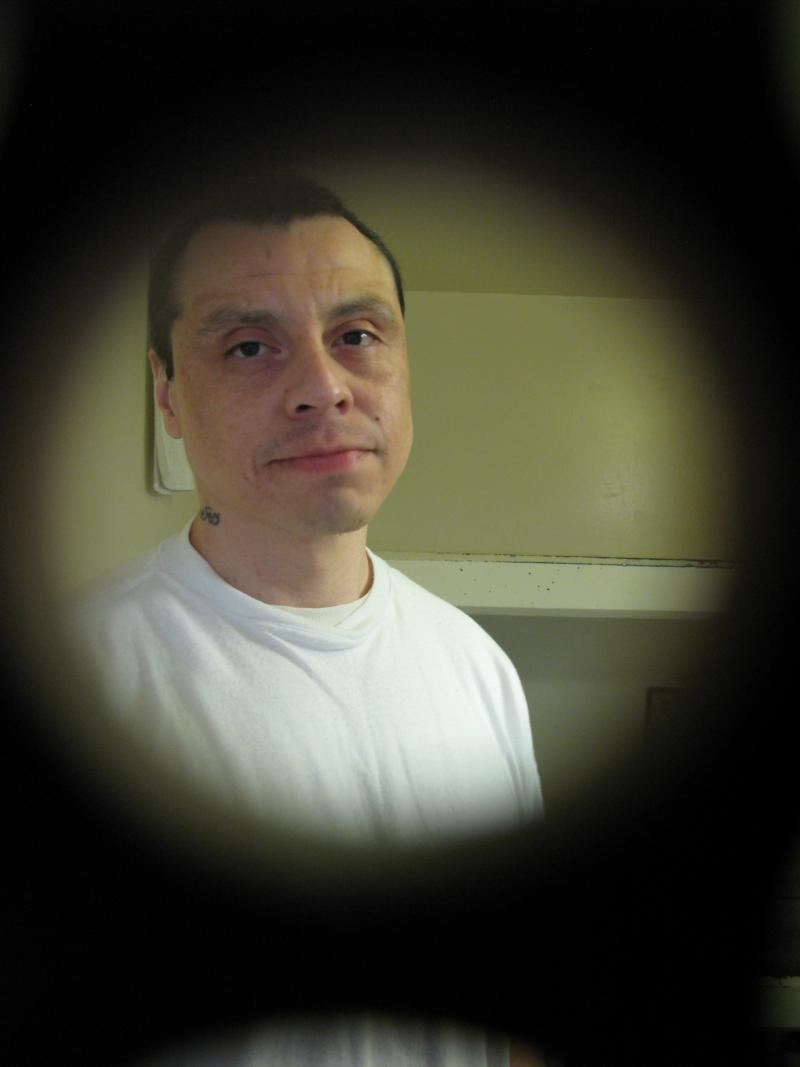 Robert Luca inside his SHU prison cell at Pelican Bay State Prison.