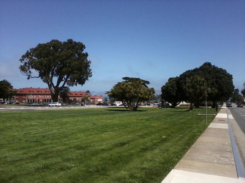 The potential site of a hotel complex in the Presidio.