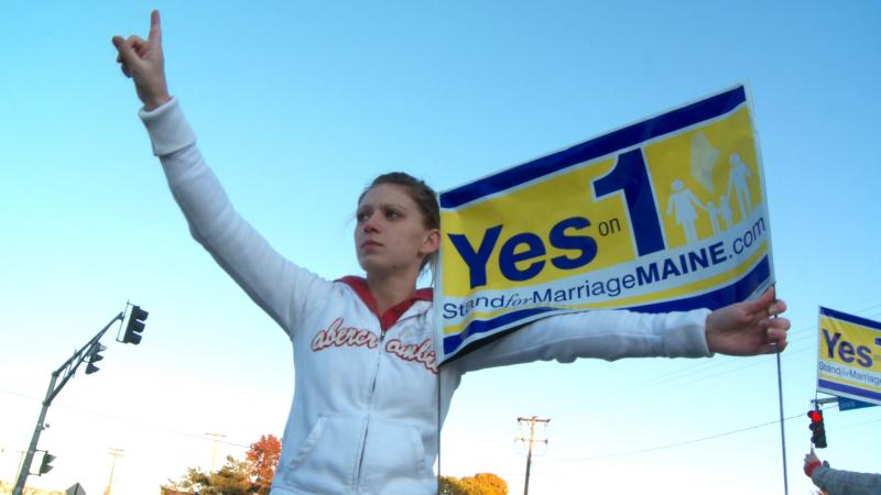 Maine voters passed Question 1 in 2009, outlawing same-sex marriage. A pro-gay marriage measure is on Maine's ballot  this year.