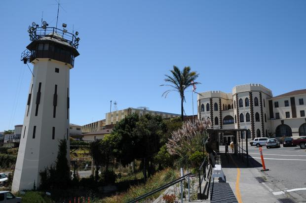 Outside San Quentin State Prison