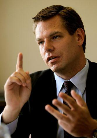 Democrat Eric Swalwell is challenging Democrat incumbent Pete Stark in the race to represent California's 15th Congressional District.