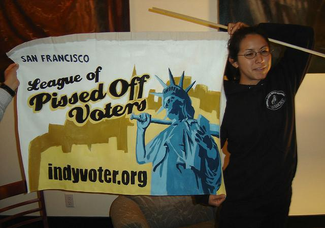 League of Pissed Off Voter member, Amy Scott