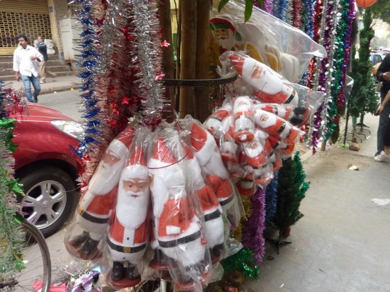 Santas in bags