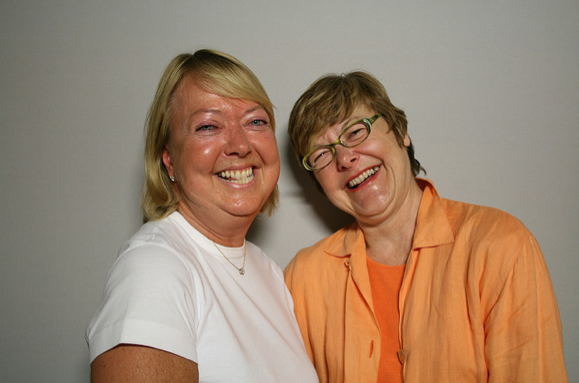 Patricia Fodor and Diane Daniels.  Photo courtesy of StoryCorps
