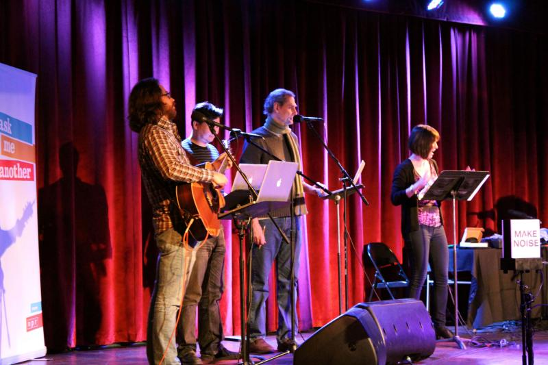 The cast of Ask Me Another, live at the Bell House in Brooklyn
