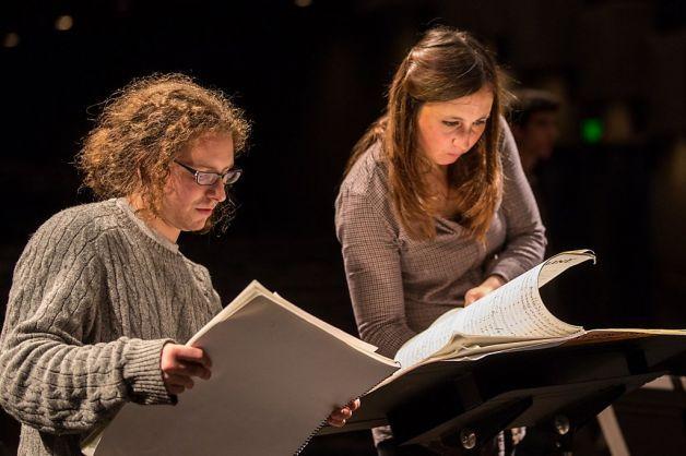 Dylan Mattingly with conductor Joana Carneiro