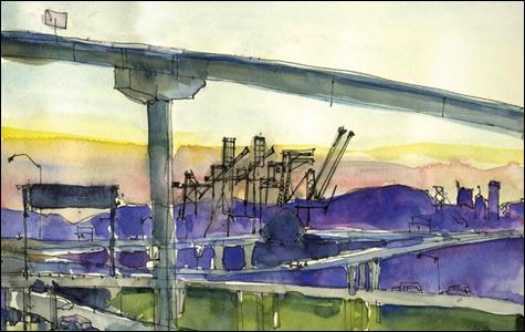 A Bay Area sketching group finds the beauty in everyday urban details.