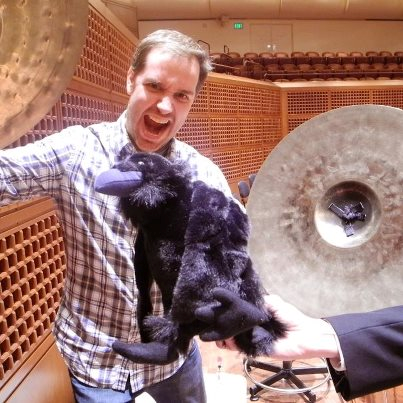SF Symphony Percussionist Trey Wyatt getting his game on fo
