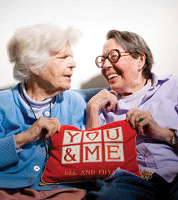 Long-time lesbian activists Phyllis Lyon and the late Del Martin were together 55 years before they could legally wed.