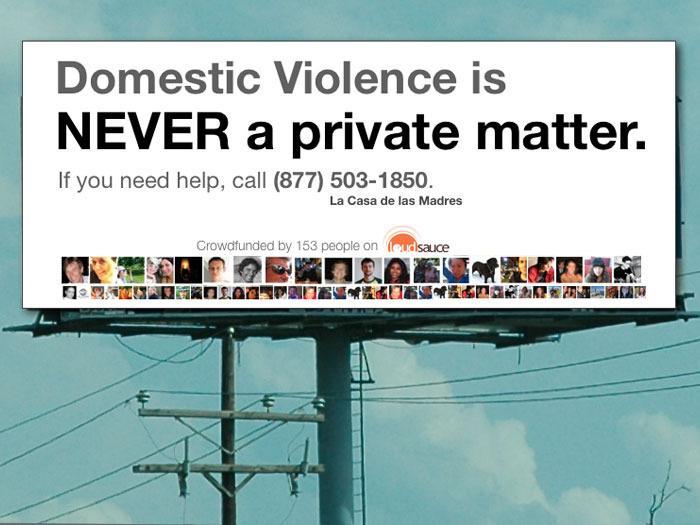 """Domestic Violence is Never a Private Matter"" Billboard"