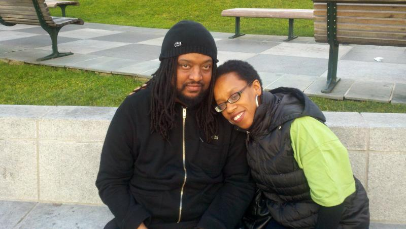 Kevin and Lateefah at a marrow drive on MLK Day