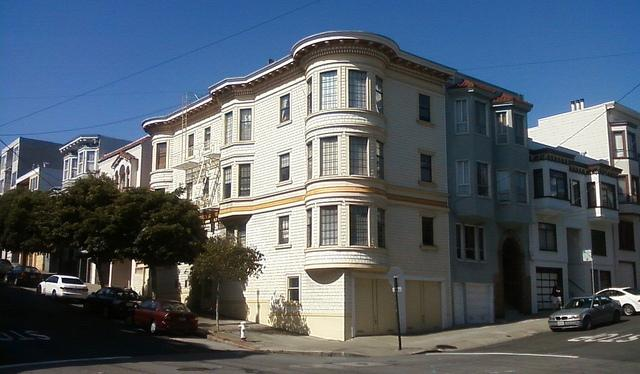 Apartment building on Larkin Street in San Francisco