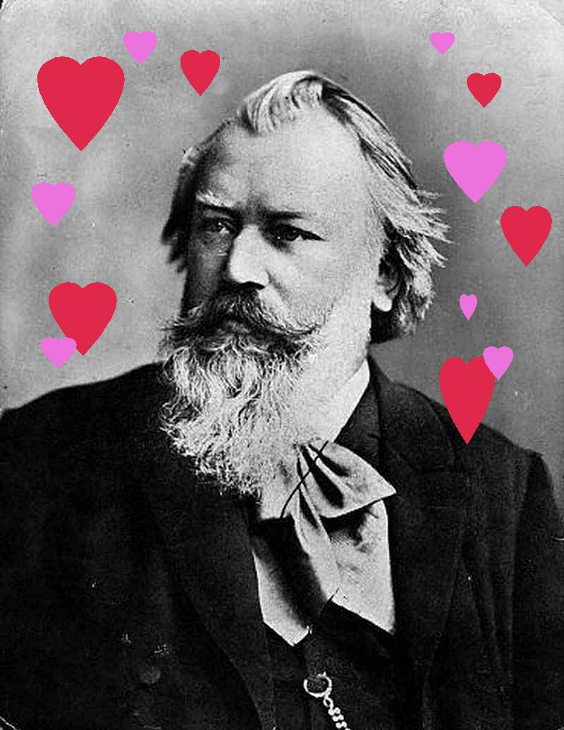 Johannes Brahms, classical composer and big softie