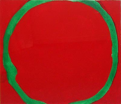 Untitled (Green Circle on Red, 1968)