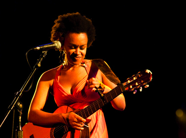 Local musician Meklit Hadero hails from Ethiopia and currently calls San Francisco's Mission District home. Photo by Sarah Peet.