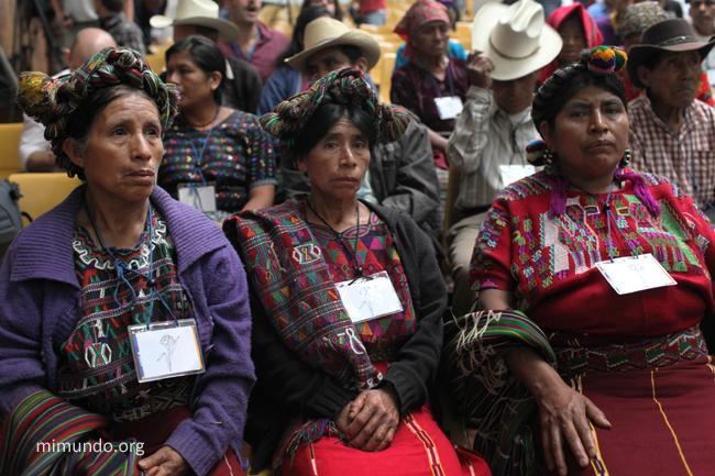 Maya women attending Montt's trial