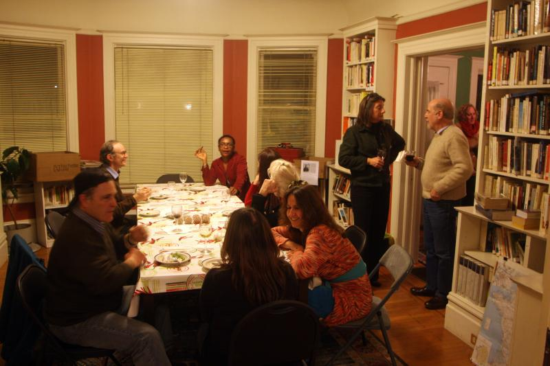 A gathering at L'Alliance Française