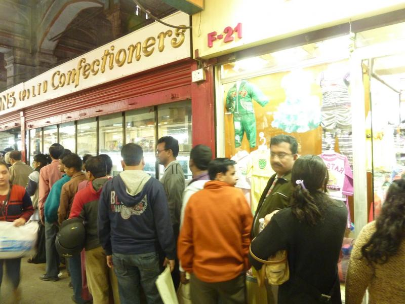 A line outside Nahoum bakery