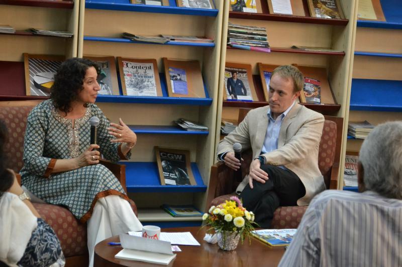 Fatima Shaik and Jeffrey Reneau at American Center