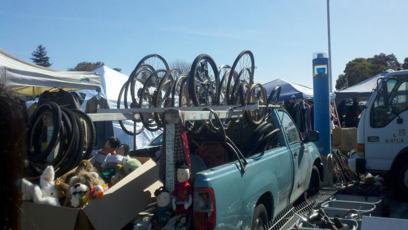 Bikes at the Laney Flea Market in Oakland (Isabel Angell)