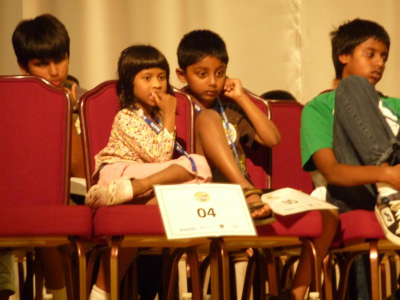 Spelling Bee Participants at the American Center