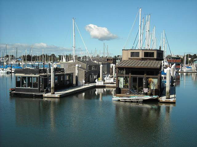 Houseboats at the Berkeley Marina.