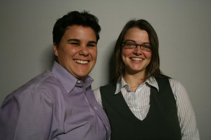 Melanie Rowen (R) Kristina Wertz (L)