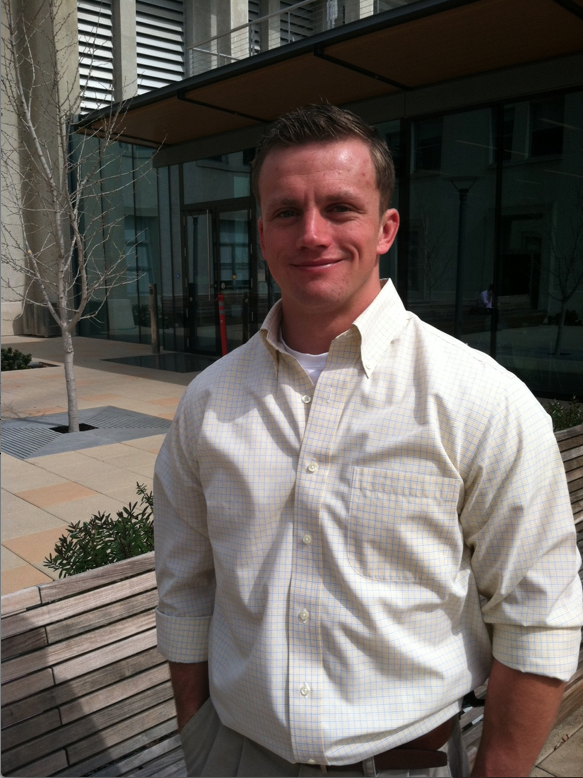 UC Berkeley student and Iraq veteran Dave Smith