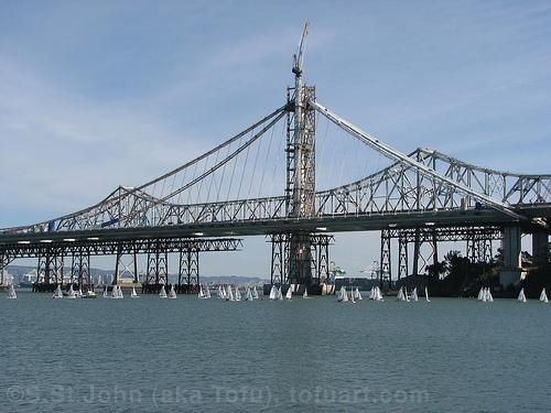 The new eastern span of the Bay Bridge (via flickr user tofuart)