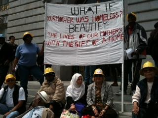 Homeless mothers rallying at City Hall today