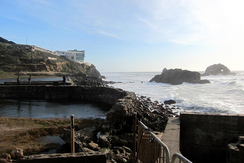 Sutro Baths on the San Francisco shoreline.