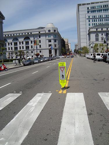A crosswalk in San Francisco (via flickr user nathanpachal)