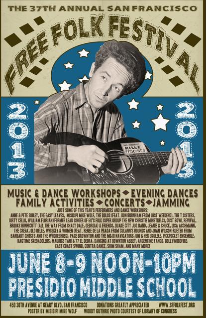 Free Folk Festival poster