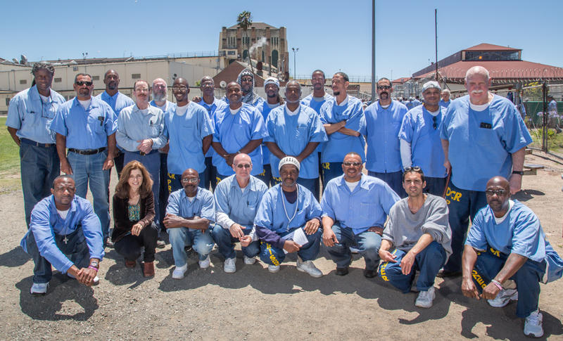 The Brothers in Pen creative writing class at San Quentin. Photo courtesy of Peter Merts