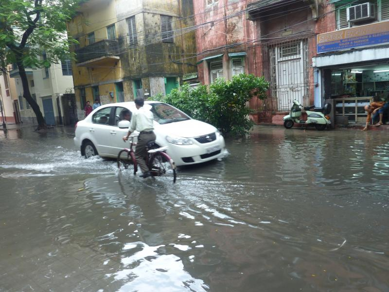 Flooded streets in Kolkata