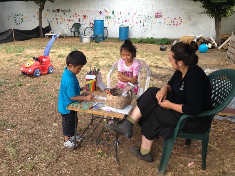 Kids crafting.