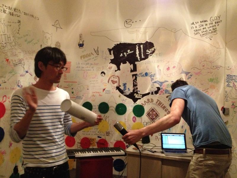 Mitsuru Muraki and Gabe Stern recording