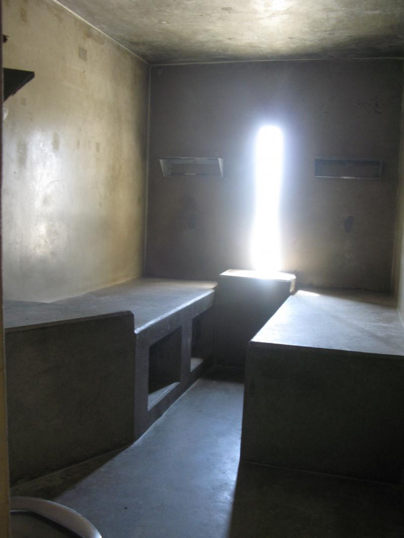Interior of SHU cell at Corcoran State Prison